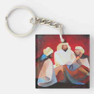 We Three Kings Single-Sided Square Acrylic Keychain