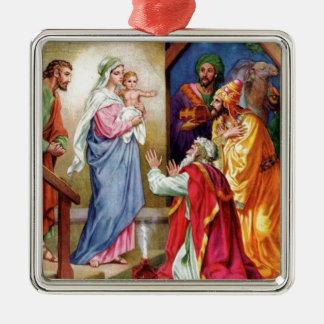 We Three Kings Square Metal Christmas Ornament