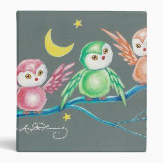 We Three Owls Vinyl Binder
