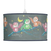 We Three Owls Hanging Lamp