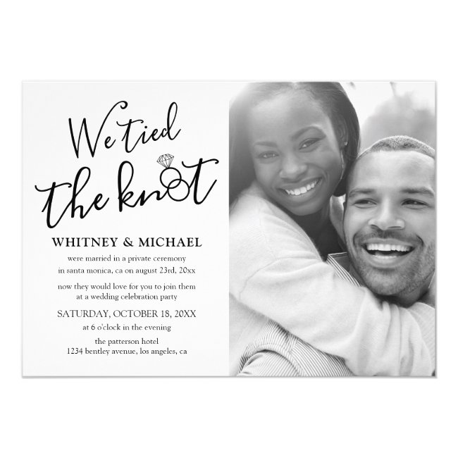 We Tied the Knot Eloped Announcement