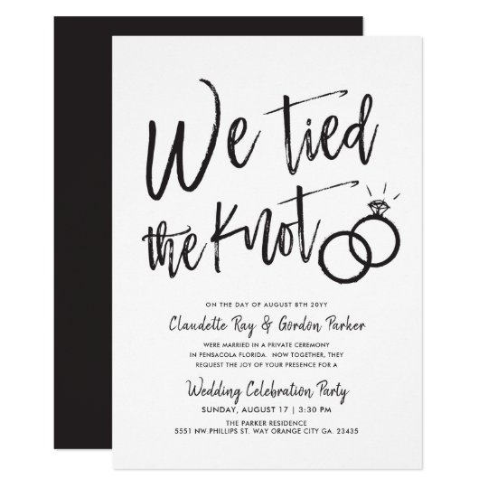 Post Wedding Party Invitation: Post Wedding Party Invitation