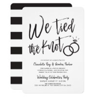 We Tied the Knot | Script | Post Wedding Party Invitation