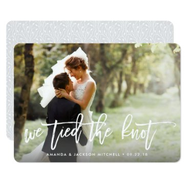 RedwoodAndVine We Tied the Knot | Wedding Announcement