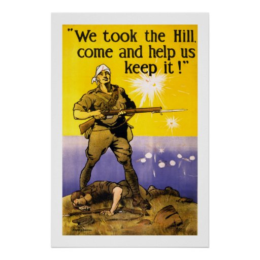 We Took The Hill (white) Poster