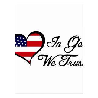 We Trust In God Postcard
