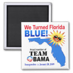 We Turned Florida Blue Magnet (white)