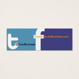 We Tweet U right Business Card tf 2.0 Back logo
