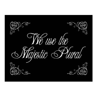 We Use The Majestic Plural Postcard