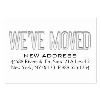 17 address change notification business cards and address for We have moved cards templates