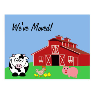 We ve Moved Animal Farm Style Postcards