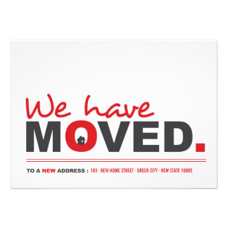 We ve Moved Moving Announcement Housewarming Party