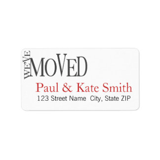 We ve Moved New Home Announcement Address Labels