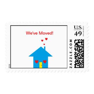 We ve Moved Postage