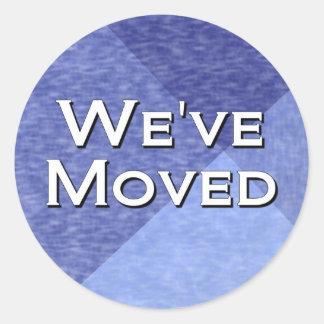 We ve Moved Round Sticker