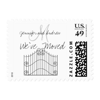 We ve Moved to New Address Announcement Postage Stamps