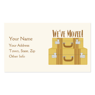 We ve Moved - Vintage Suitcases Business Card