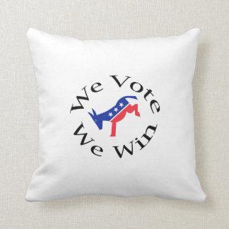 We Vote We Win Pillow