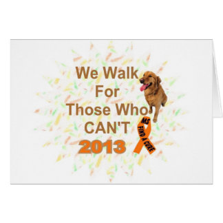 we walk - MS 2013 WALK Card