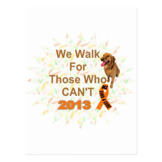 we walk - MS 2013 WALK Postcard