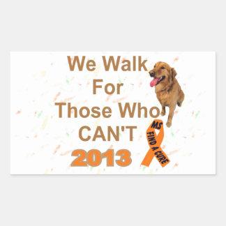 we walk - MS 2013 WALK Rectangular Sticker