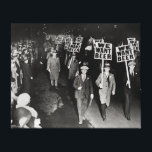 """We Want Beer! Prohibition Protest, 1931. Vintage Canvas Print<br><div class=""""desc"""">Union members march to protest the alcohol prohibition law and to demand beer. 1931.</div>"""