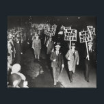 "We Want Beer! Prohibition Protest, 1931. Vintage Canvas Print<br><div class=""desc"">Union members march to protest the alcohol prohibition law and to demand beer. 1931.</div>"