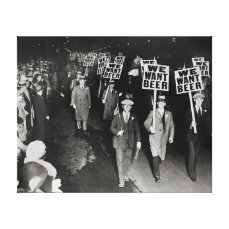 We Want Beer! Prohibition Protest, 1931. Vintage Canvas Print