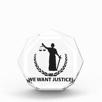 We Want Justice Award