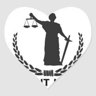 We Want Justice Heart Sticker