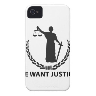 We Want Justice iPhone 4 Case