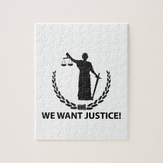 We Want Justice Jigsaw Puzzle