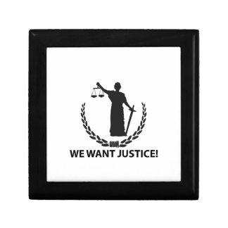 We Want Justice Keepsake Box