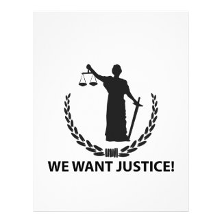 We Want Justice Letterhead