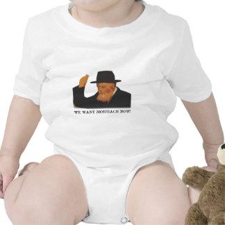 We want Moshiach now Baby Bodysuits