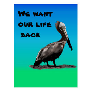 We Want Our Life Back Postcard
