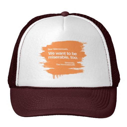 WE WANT TO BE MISERABLE TOO MESH HAT