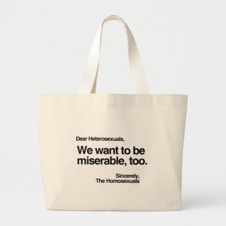 WE WANT TO BE MISERABLE TOO.png Jumbo Tote Bag