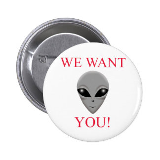 WE WANT YOU! BUTTONS