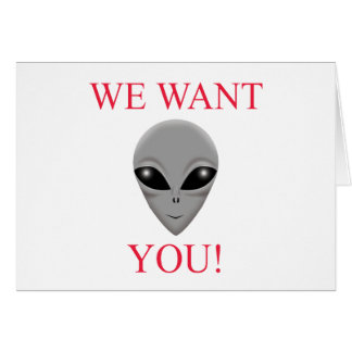 WE WANT YOU GREETING CARD