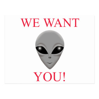WE WANT YOU! POSTCARD