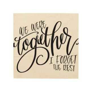 We Were Together Walt Whitman Wall Art