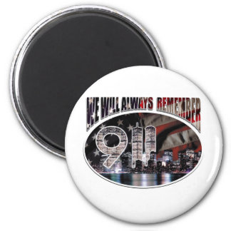 We Will Always Remember 9/11 2 Inch Round Magnet