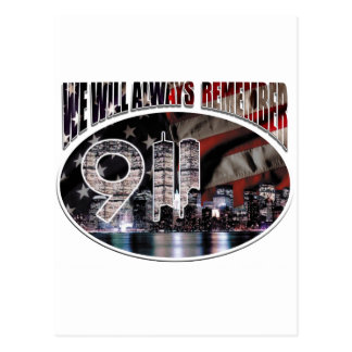 We Will Always Remember 9/11 Postcard