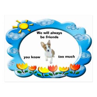 We will alwaysbe friends postcard