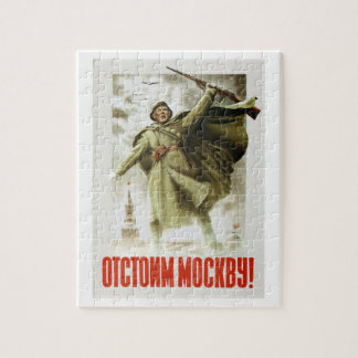 We will defend Moscow_Propaganda Poster Jigsaw Puzzle