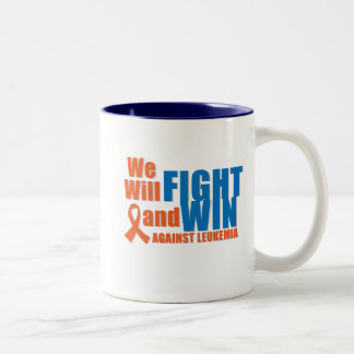 We Will Fight and Win Against Leukemia Two-Tone Coffee Mug