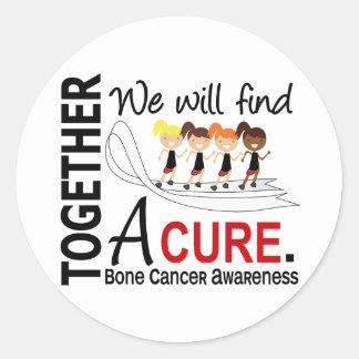 We Will Find A Cure Bone Cancer Classic Round Sticker
