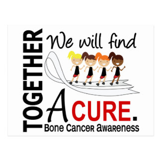 We Will Find A Cure Bone Cancer Postcard