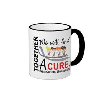 We Will Find A Cure Brain Cancer Ringer Mug